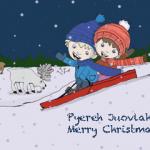 Christmas card sledging