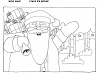 Juovlâäijih ivnemkove - Father Christmas colouring picture