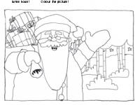 Juovlâäijih ivnemkove - Father Christmas colouring picture