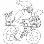 Father Christmas colourpage